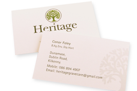 Alphabet print business cards dun laoghaire codublin business cards heritage reheart Images